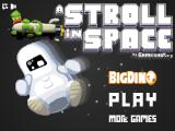 A Stroll in Space Browser Title screen and main menu
