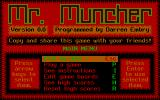 Mr. Muncher DOS The game's title screen