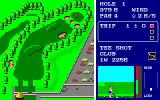 World Golf PC-88 Tee shot on the first hole
