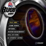 Rugby 2004 PlayStation 2 The main menu