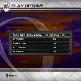 Rugby 2004 PlayStation 2 Game configuration allows the player to adjust sound, centre the display on screen and make these adjustments to gameplay
