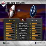 Rugby 2004 PlayStation 2 Playing a match against an AI team. The L1/R1 buttons select the player's team and the opponents