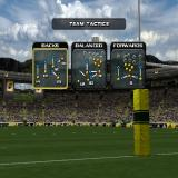 Rugby 2004 PlayStation 2 Before the game starts the player can change the team's tactics, line-up, and the team's kicker. <br>This is the tactics screen