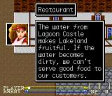 Lagoon SNES Talking to restaurant owner