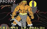 Madrax Commodore 64 Title screen