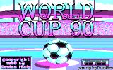 World Cup 90 DOS Title Screen.