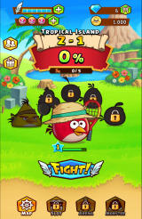 Angry Birds: Fight! Android Main overview for the character on an island