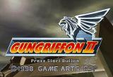 Gungriffon II SEGA Saturn Title screen