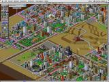SimCity 2000 Macintosh Newly constructed residential and commercial zones waiting for settlement