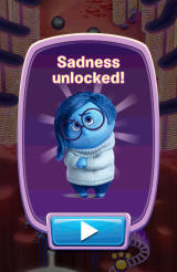 Inside Out: Thought Bubbles Android Sadness has been unlocked as a new character.