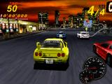 Midnight Run: Road Fighter 2 Arcade Starting the race, zooming in on the cars