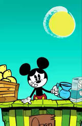 Where's My Mickey? Android The game has many animated cut-scenes. Here Mickey is out of water for his lemonade stand (free version).