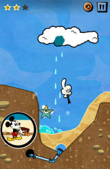 Where's My Mickey? Android Some water has been stored in the cloud. Tap it to make it rain (free version).