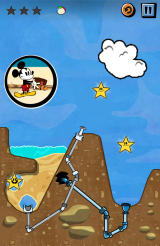 Where's My Mickey? Android Use the spout to launch water into the cloud (free version).
