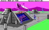 Space Quest III: The Pirates of Pestulon DOS Sneaking into ScumSoft using an invisibility belt.