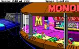 Space Quest III: The Pirates of Pestulon DOS Eating a meal at Monolith Burger.