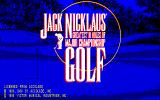 Jack Nicklaus' Greatest 18 Holes of Major Championship Golf PC-88 Title screen