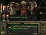 Fallout DOS Talking to Gizmo, the local corrupt boss. You can choose to be confrontational... or slightly less so