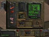 Fallout DOS Displaying the inventory of an early to mid-game character. Already got some armor and solid weapons - but that's nothing compared to what I'll get later