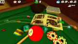 Swing Racers iPad Racing on a pool table level.