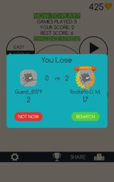 Running Circles Android I lost against Redolfo.