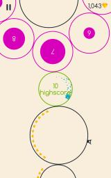 Running Circles Android The game uses colours to show when you have a new high score.