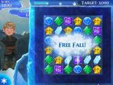 Frozen: Free Fall iPad If you finish the level with moves left, you enter Free Fall.