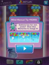 Inside Out: Thought Bubbles iPad Info about powering up Sadness' power