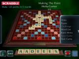 Scrabble: 2003 Edition Windows During the game the player has access to additional game options via the menu tabs at the side of the screen