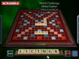"Scrabble: 2003 Edition Windows The start of a game of ""Word Challenge""<br>Here the player must make eight separate words using the same set of tiles each time"