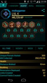 Ingress Android My character's numerous achievements
