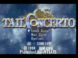 Tail Concerto PlayStation Title Screen