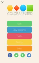 Colors United Android Main menu