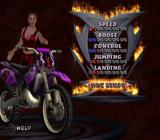 Freekstyle PlayStation 2 Selecting a motorcycle.
