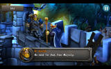 CastleStorm: Free to Siege Android The Protector of the Realm talks to the king.