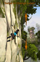 Lara Croft: Relic Run Android After a while you get to a new sequence scaling a mountain wall.