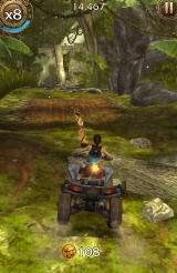 Lara Croft: Relic Run Android One of the many coin trails