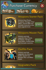 Lara Croft: Relic Run Android In-app purchases for packs