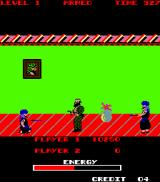 Special Forces: Kung Fu Commando Arcade Enemies can throw knives