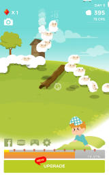 Sheep in Dream Android Day three, with two changes to the dream hill environment
