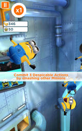 Despicable Me: Minion Rush Android Starting a level.