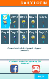 Despicable Me: Minion Rush Android Rewards for daily logins