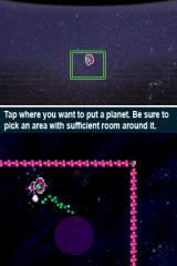 Mighty Milky Way Nintendo DSi When you have Planet Candy, holding down the stylus will make a new planet.