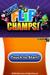 Mighty Flip Champs! Nintendo DSi Title screen.