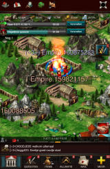 Game of War: Fire Age Android My army is plundering a nearby kingdom (Dutch version).