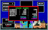 Tetris PC-88 Stage score