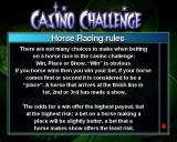 Casino Challenge PlayStation 2 All games have a set of rules<br>These are selected on from the menu bar at the bottom of the screen where the stake is selected