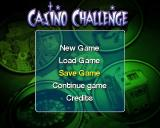 Casino Challenge PlayStation 2 The main menu changes once a game begins and acquires a 'Continue' option