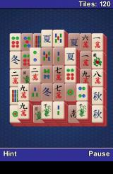 Mahjong Android A game in progress.