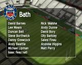 Rugby Challenge 2006 PlayStation 2 Starting a friendly match. <br>There's an aerial view of the ground followed by the squad listings. All these names seem to be the genuine Bath team from 2006